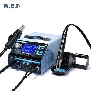 Image 2 - WEP 992DA + 780W palenie ssania stacja lutownicza stacja rozlutownicy pompa dmuchawa gorącego powietrza zestaw narzędzi do naprawy Smd stacja lutownicza