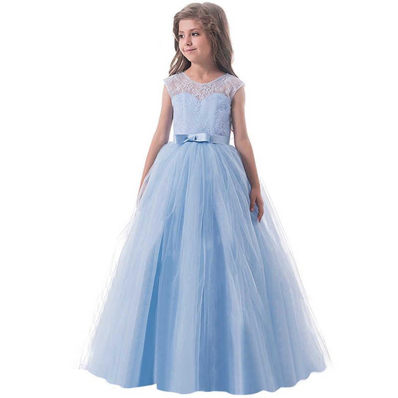 8a001c5fc9b7ce7 ... Праздничная одежда для девочек, одежда для детей, летнее кружевное  платье принцессы без рукавов на ...
