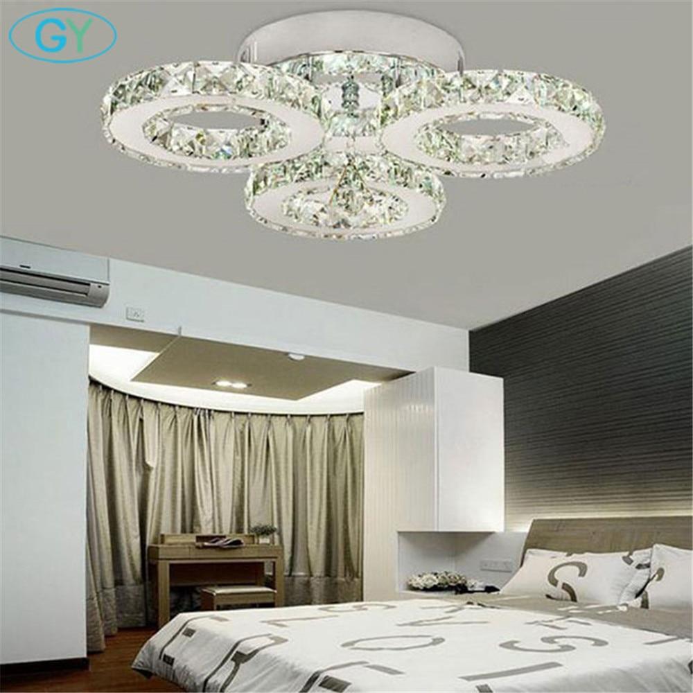 AC100-240V 24W LED crystal ceiling light 3-lights lustres home decoration luminaria led ceiling lights for living room ...