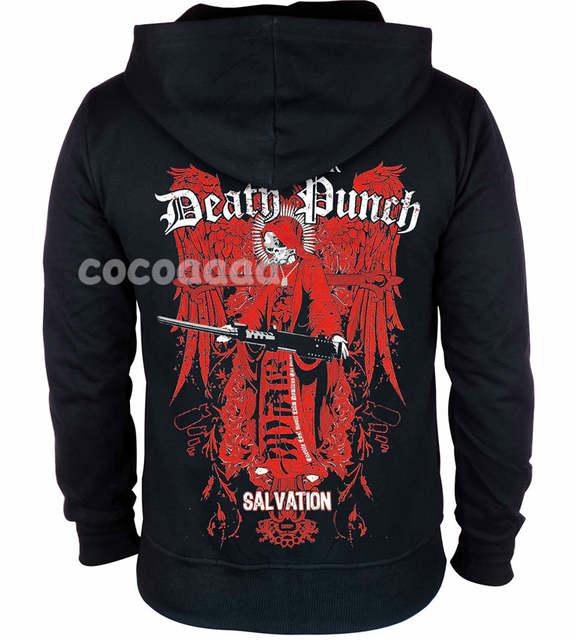 US $42.99 |15 designs Five Finger Death Punch Rock hoodies zipper Sweatshirt fleece jacket 5FDP punk hardrock heavy metal skull sudadera in Hoodies &