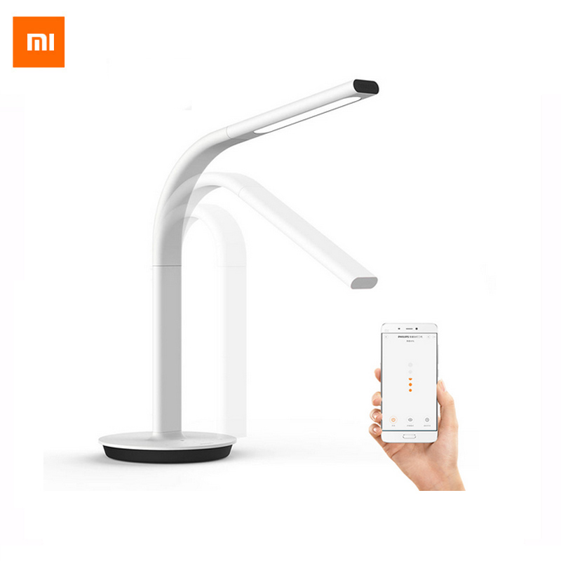 Original Xiaomi Mijia LED Light Smart Table Lamp 2 Desk Lamp EyeCare Desklight Dual light Support Smartphone App Remote Control original xiaomi mijia led desk lamp smart table lamps desklight support mobile phone app control 4 lighting modes reading led