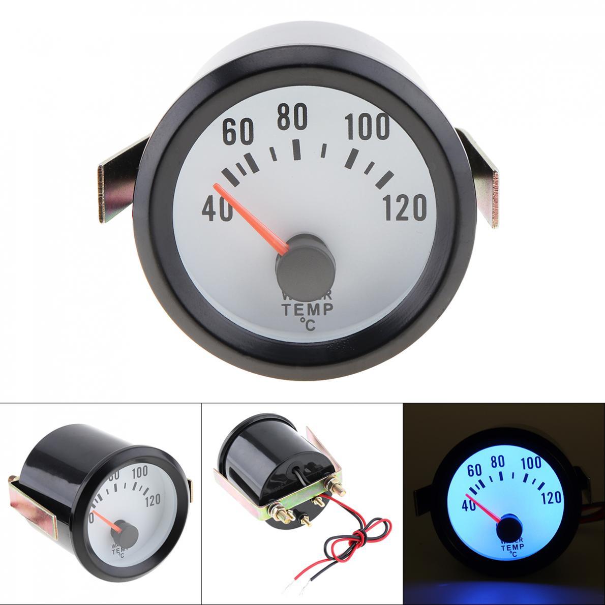 """6036BL 2/"""" 52mm 12V Blue Backlight 0-100PSI Car Oil Pressure Gauge Meter"""