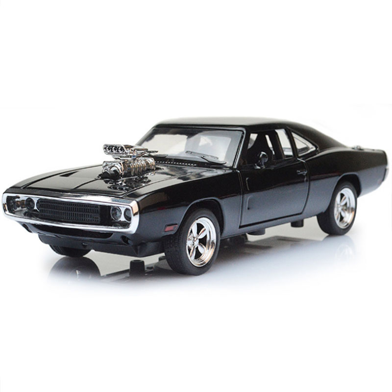 17CM 1:32 Scale Metal Alloy Classic Car Model Diecast Vehicles Toys For Collection  Model Charger 1970 Pull Back Cars Gift