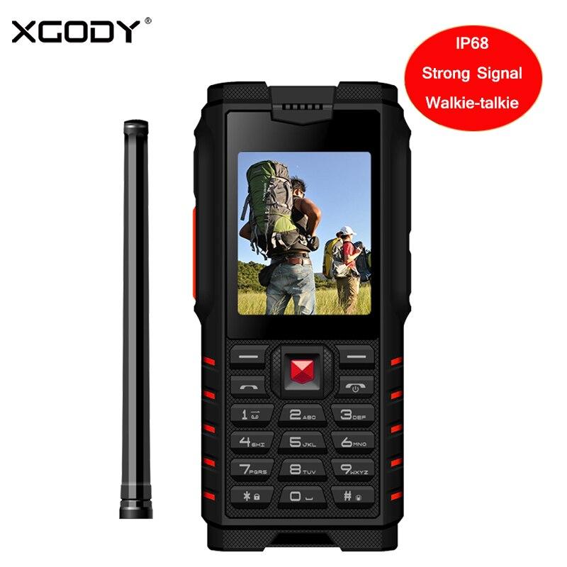 XGODY ioutdoor T2 прочный телефон IP68 рации домофон 4500 мАч Мощность банк сильный фонарик 2,4 GSM Водонепроницаемый сотовый телефон