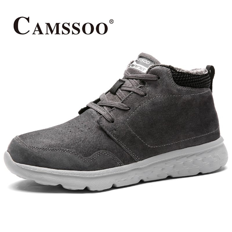 2017 Camssoo Mens Hiking Shoes Breathable Climbing Sports Shoes Warmth Outdoor Shoes For Men Grey Black Free Shipping 3112 2017 merrto mens hiking boots waterproof breathable outdoor sports shoes color black khaki grey for men free shipping mt18638