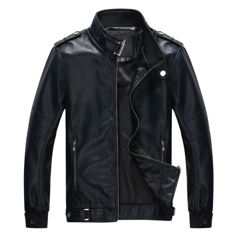 2016 European and American Style High Quality Men Leather Jackets Plus Wholesale Nice Men Leather Jacket Mans Biker Coats S1729