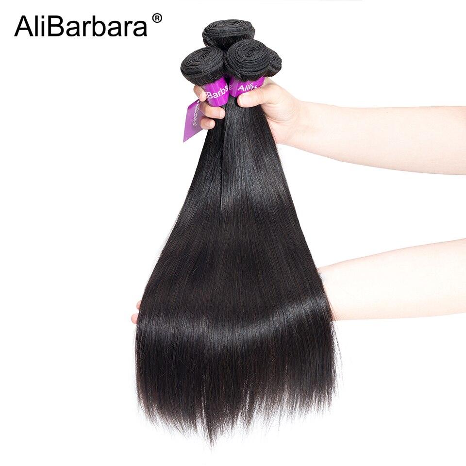 AliBarbara Hair Indian Straight Hair Weave 100% Remy Human Hair Bundles 1/3/4 Bundles Natural Color Mix any length 8 28inch