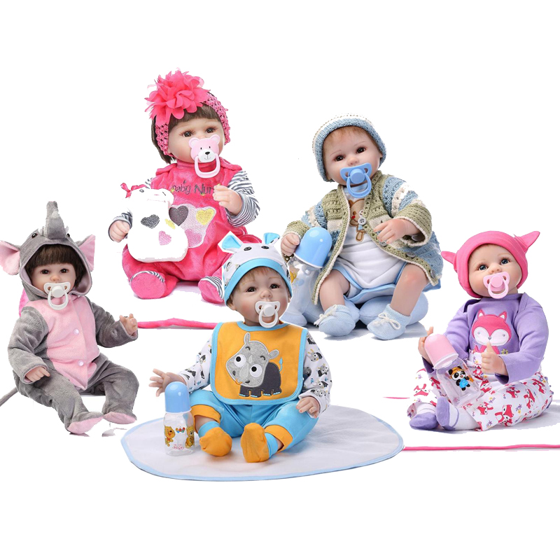 Lovely Soft Silicone Lifelike Reborn Baby Doll Toy with Clothes Cute Simulated Infants Kids Appease Accompany Doll Toy