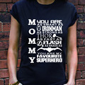 Mamá Camiseta Como Iron Man Thor Flash Batman Superman de la Madre Camisa Divertida top tee regalo cumpleaños de La Madre Regalo del día de Madre de La Muchacha camiseta