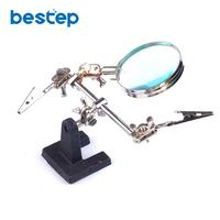 Free Shipping 5x Zoom BEST 168Z Desktop Magnifier Magnifying Glass With Clip For Cell Phone SMD