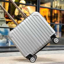 EVISPO 16inch trolley Adult luggage spinner wheels towbar body men and women boarding bags valise bagages