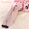 Cute cat girl tights children's dance stockings for girls kids baby dot pantyhose cartoon characters tight 2016 summer 3-7Y