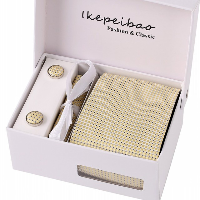Navy Necktie Cufflink Clips Mans Formal Ties Business Wedding Holiday 1200