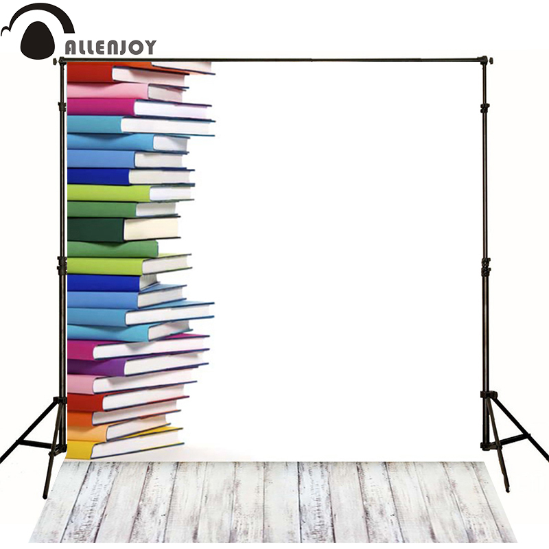 Allenjoy Photographic background School books piled wood newborn photography photo for studio baby shower  wall floor  allenjoy photographic background castle butterfly purple stars newborn photography photo for studio send rolled wood