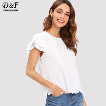 7ee086ab7c3a Blouse Layer Ruffle - Compra lotes baratos de Blouse Layer Ruffle de ...
