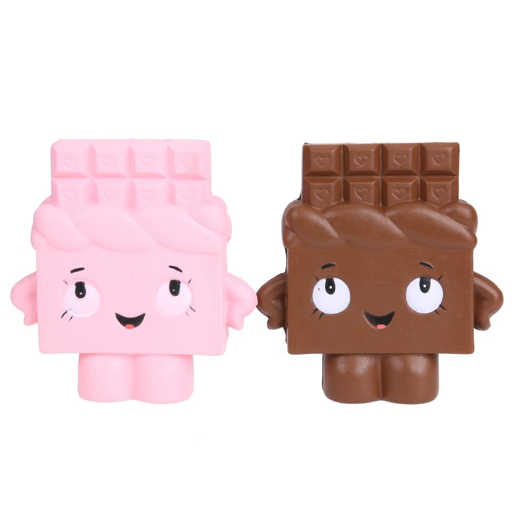 1 шт. рост торт притворяться Забавные игрушки розовый подарок для маленьких девочек Мальчик Хлеб с шоколадом cutetoy Игрушки-приколы