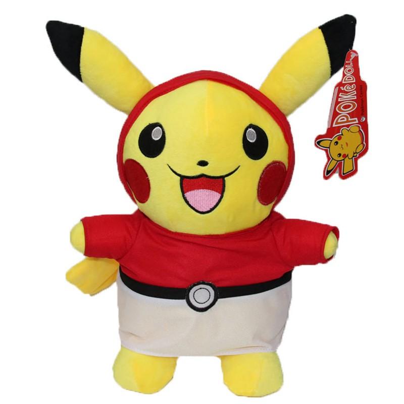 Kawaii Graduation Pikachu Cos Pokeball Cloth Plush Toys Soft Stuffed Animal Dolls for Children\'s Gift 13inch 32cm 2 Styles (2)