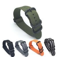 5 PCS/lot Heavy duty sangles en nylon 18mm 20mm 22mm 24mm Nylon bande de Montre OTAN bracelet zulu montre bracelet sangle anneau boucle