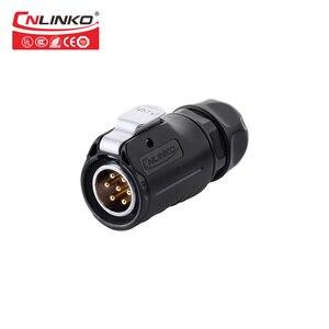 Image 3 - CNLINKO LP סדרת M20 7 פין 20A 500V IP67 עמיד למים תקע שחור עגול מחבר עבור ציוד תעשייתי אות מחברים