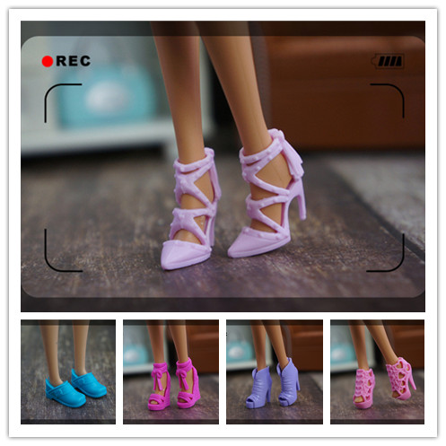 2019 Original 1 Pair 1/6 Fashion Doll Shoes Cute Doll Flat Shoes Sandals Boots For Barbie Doll Shoes 1/6