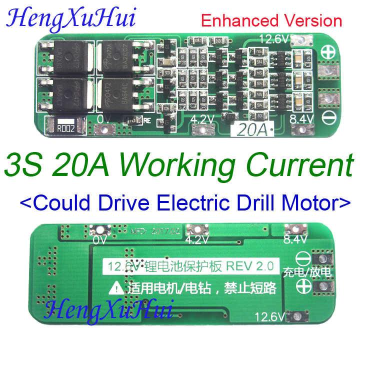3 S 20A литий-ионная литиевая батарея Щит защиты печатной платы 12,6 V автоматическое восстановление (стандартная улучшенная версия опционально)