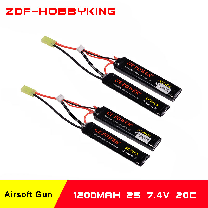 2018 New Arrived Lipo Battery 2S 7.4V 1200mah 20C Max 50C With Tamiya connector AKKU For Mini Airsoft Gun Battery RC model orient qbch00dw page 4