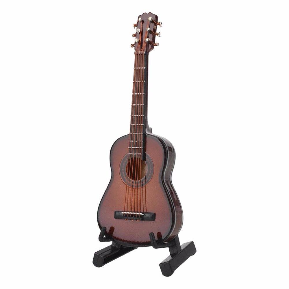 Yuker 1:12 Gitarre Holz Miniatur Musikinstrument Musik Puppenhaus ...