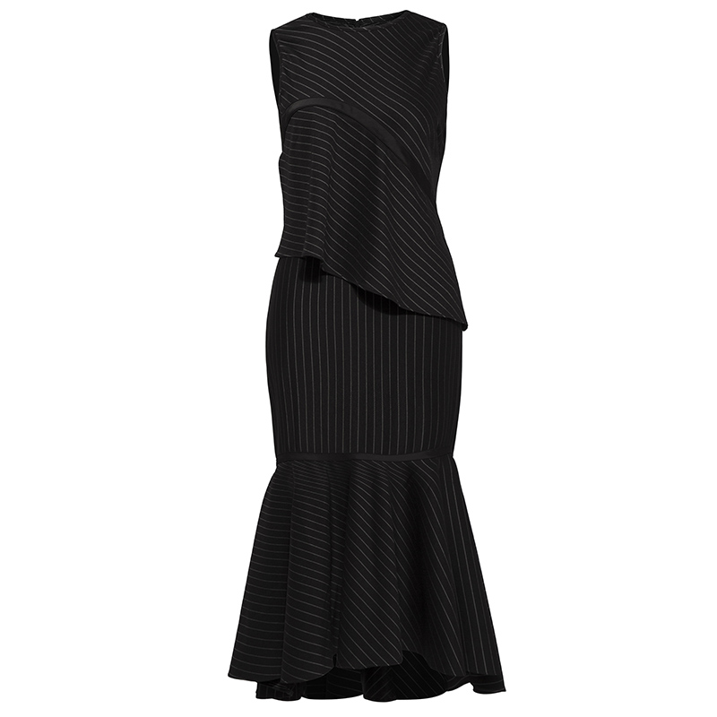 Young17 Fall Dress Women 2018 Work Black Zipper Elegant Knitted Stripe Office Sexy Party Winter Dress Autumn Mermaid Dress samantha young fall from india place