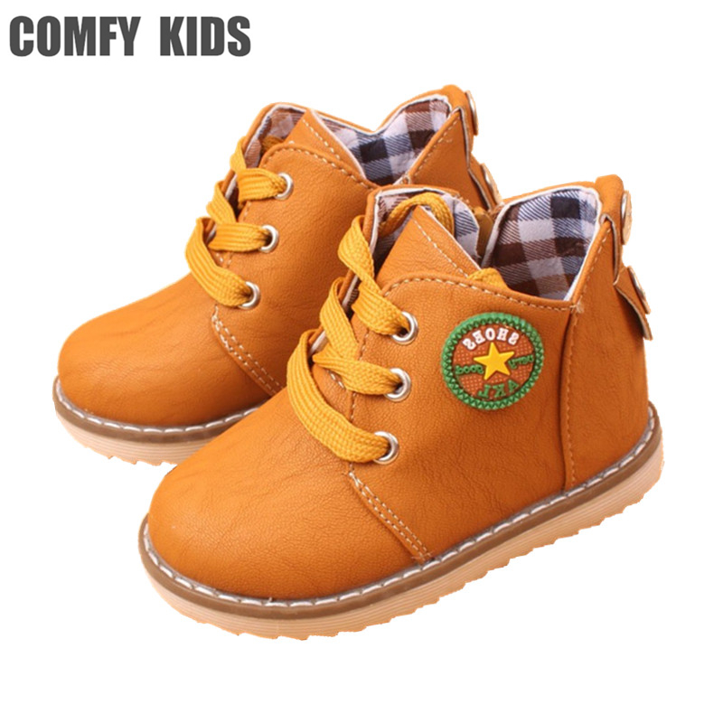 Fashion children boots boys girls snow boot shoes kids spring autumn high quality comfy  baby martin boot child ankle boot 2016 autumn leather boots for boys girls children casual shoes kids comfort high quality spring martin boots