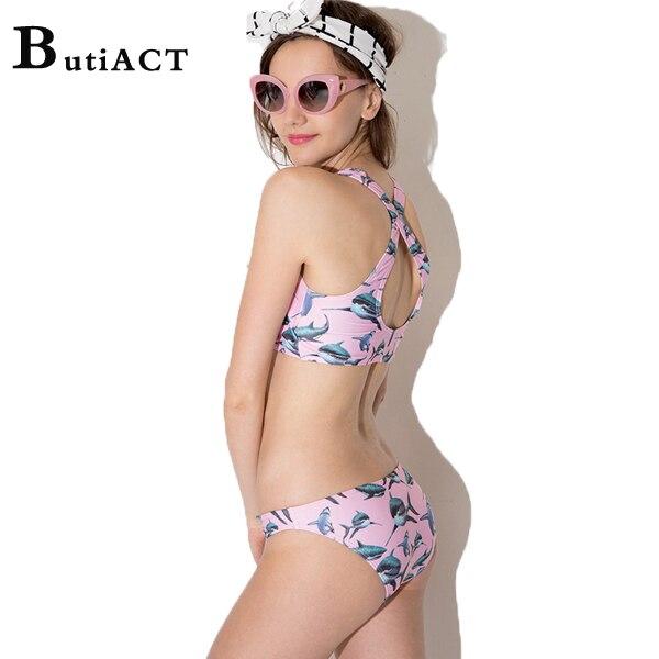 cheaper pretty cheap stable quality XS XXL Free Shipping 2015 Printing Shark Womens Bikini Set ...