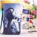 Doogee homtom ht7/ht7 pro case com cartão slots moda borboleta telefone celular case de couro flip fique capa carteira + cordão presente