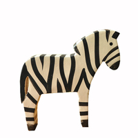 Nordic animal wood carving Home Decor two square zebra Home Decor home decoration accessories Figurines Miniatures