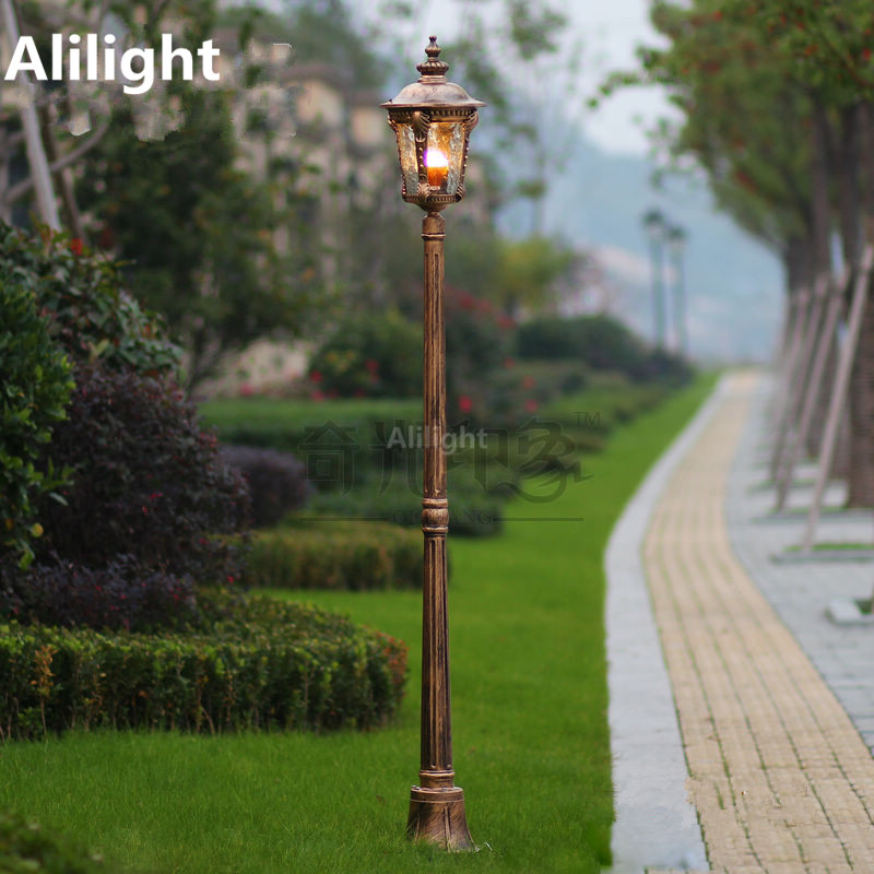 Modern aluminum glass classical outdoor lighting post for Focos led exterior 50w
