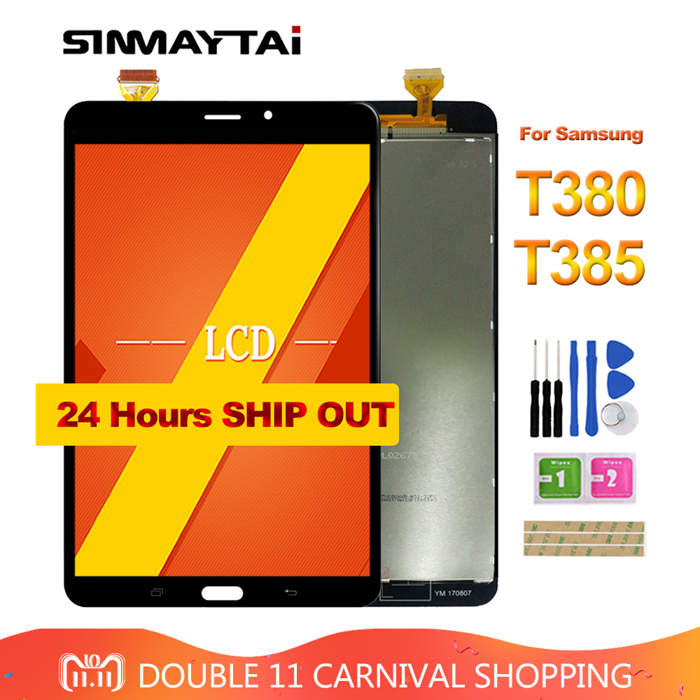 8.0'' T380 LCD For Samsung Galaxy Tab A 8.0 2017 SM-T380 T385 Touch Screen Digitizer Glass Lcd Display assembly Replacement 8 for samsung galaxy tab a 8 0 2017 sm t380 sm t385 t380 t385 lcd display touch screen digitizer glass assembly free tools