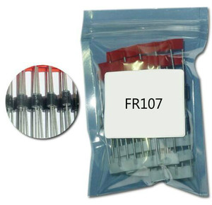 100pcs FR107 DO-41 rectifier diode schottky kit fr107 do-41 fast diode recovery 1A 1000v high voltage diode tvs schottky diodes