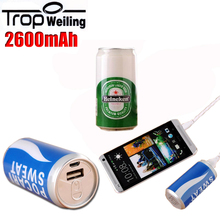 Tropweiling Mini Power bank 2600mAh Portable Charger with 18650 battery External Battery Pack Single usb Powerbank