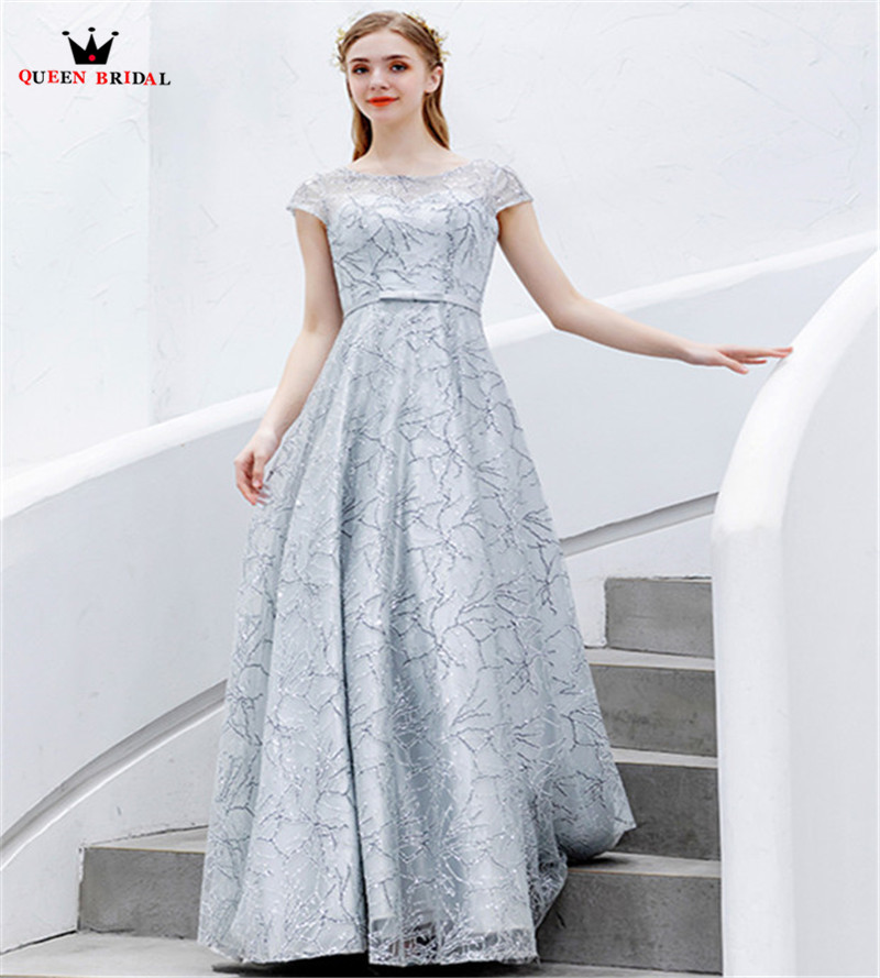 Supply Luxury Silver Evening Dresses A-line Sequins Tulle Beading Shiny Prom Party Dress Evening Gown 2019 New Fashion Jk67 Profit Small Weddings & Events