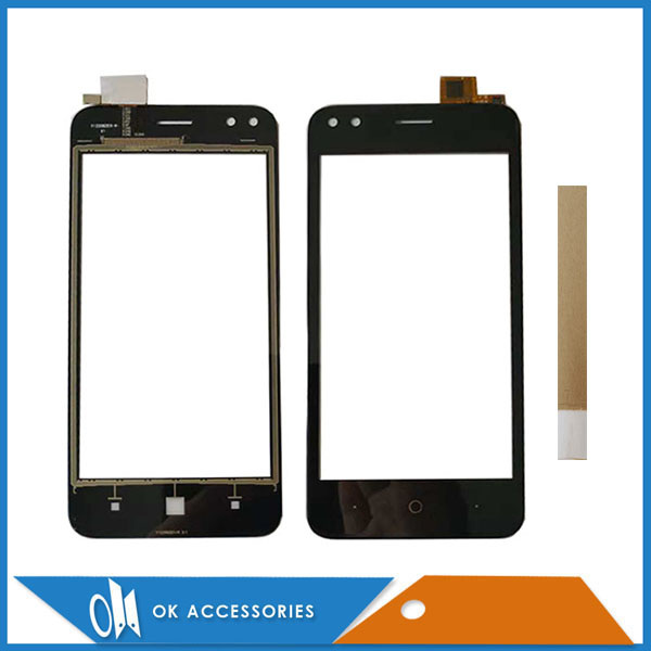 4.5 Inch For Micromax Bharat 3 Q437 Touch Screen Glass Lens Digitizer Sensor Black Color With Tape