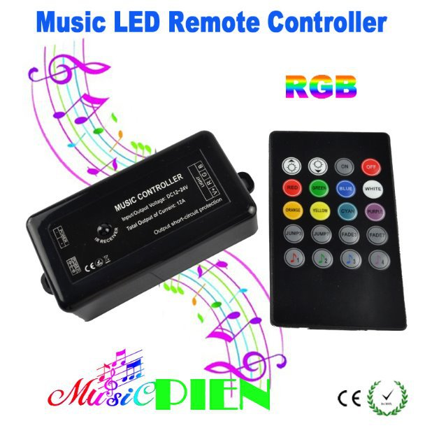 Led Music Controller Rgb 12a Sound Activated Control With