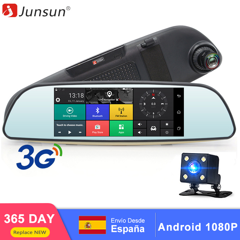 Junsun E515 6 5 Car DVR 3G Wifi Rear view Mirror Dual Lens Camera Full HD