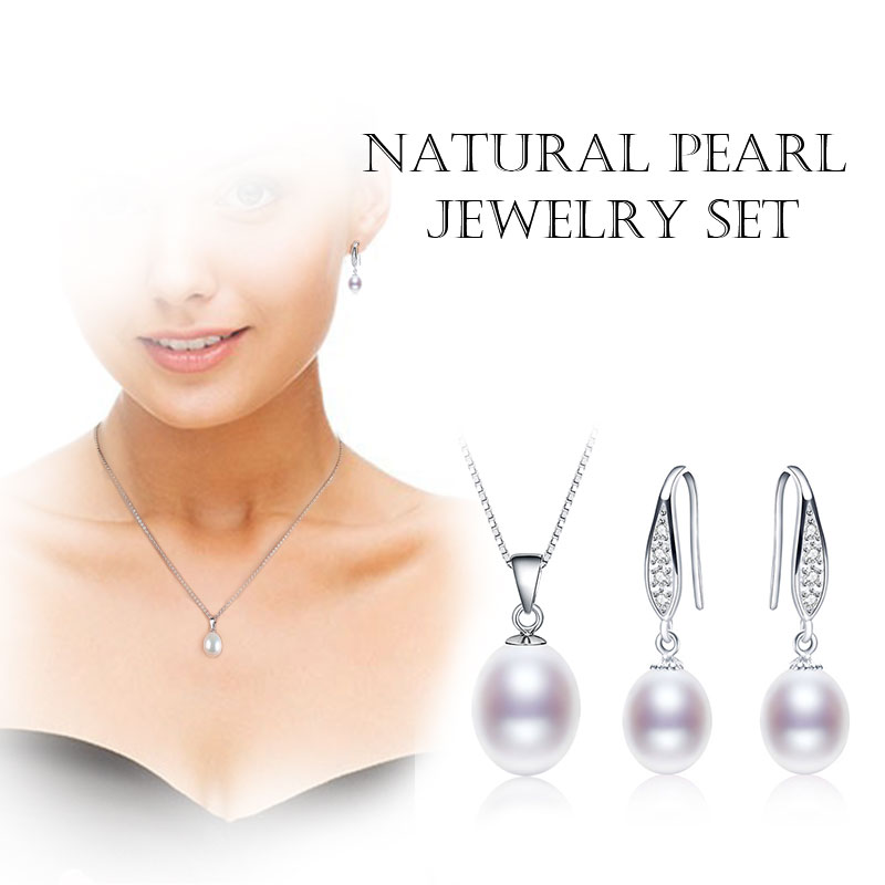 HTB1rUNPkYsTMeJjSszgq6ycpFXaG NYMPH Pearl Jewelry Set Natural Fresh Water Pearl Necklace Pendant Earrings For Wedding Party Gift Women[tz1032]
