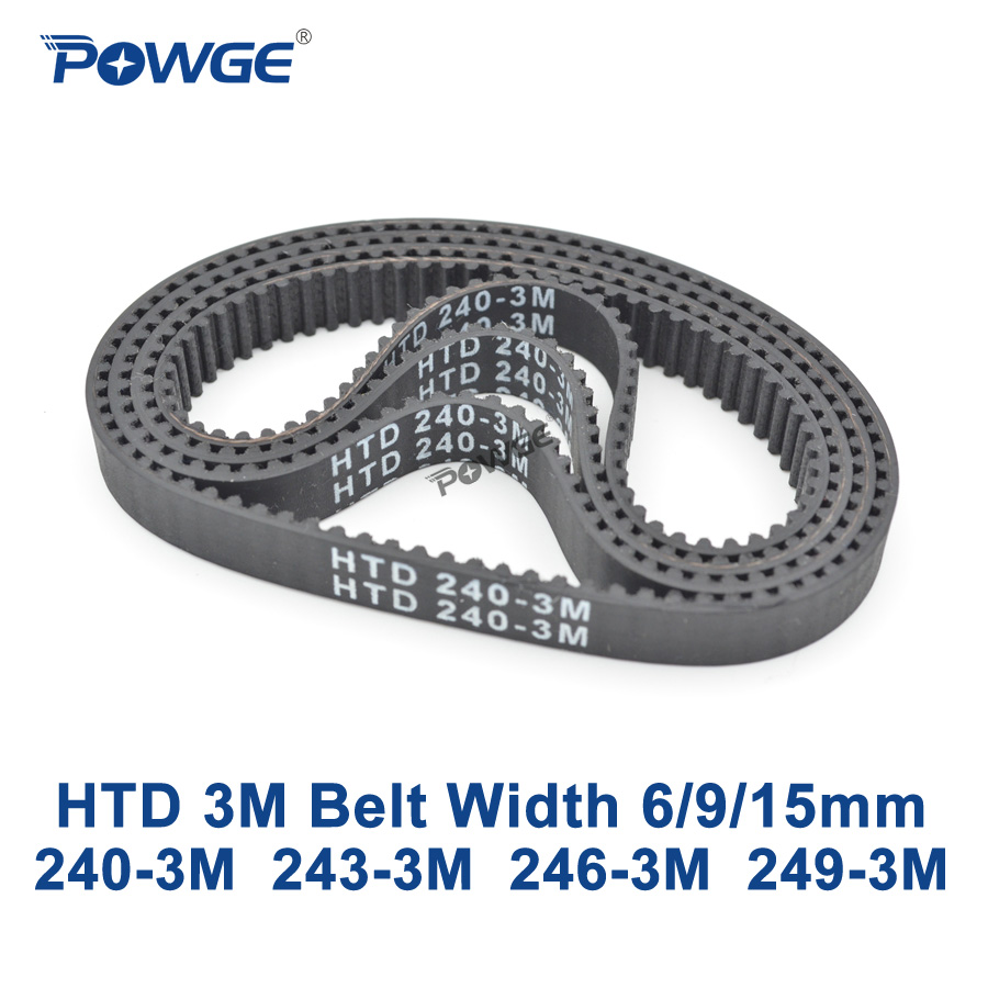 POWGE Arc HTD 3M Timing belt C= 240 243 246 249 width 6/9/15mm Teeth 80 81 82 83 HTD3M synchronous 240-3M 243-3M 246-3M 249-3M powge arc htd 3m timing belt c 264 267 270 273 width 6 9 15mm teeth 88 89 90 91 htd3m synchronous 264 3m 267 3m 270 3m 273 3m