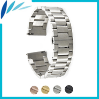 Stainless Steel Watch Band 20mm 22mm For Rolex Butterfly Buckle Strap Quick Release Wrist Belt Bracelet