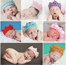 Baby Infant Headband Crown Knitting Crochet Costume Soft Adorable Clothes Newborns Photography Props Baby Photo Hat Cap