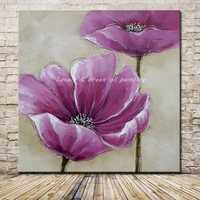Hand Painted Flower Oil Painting On Canvas Modern Abstract Canvas Oil Paintings For Living Room Wall Decor Frameless Pictures