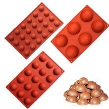 3 размера полусферы Форма силиконовый Плесень Для Шоколада Конфеты льда производитель кубиков формы для выпечки печенья торта инструменты конфеты формы