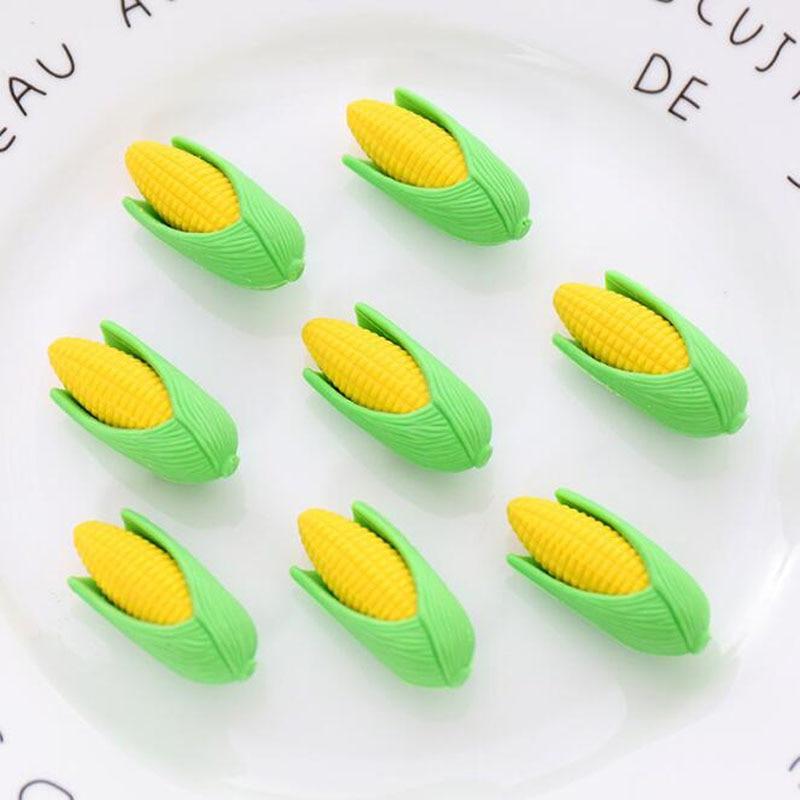 2pc Kawaii Novelty Erasers Creative Rubber Super Cute  Simulation Assembled Corn Modeling Eraser Student Cartoon School Supplies