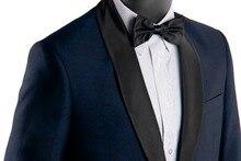 Jacquard Wedding Suits For Men 2019 Custom Made Patterned Navy Blue Wedding Tuxedos Black Shawl Lapel Costume Homme Mariage