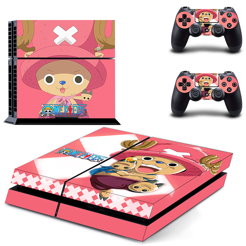 Image 2 - HOMEREALLY Stickers PS4 Skin Anime One Piece Sticker for Sony Playstation 4 Controller and Console Skin PS4 Accessory-in Stickers from Consumer Electronics