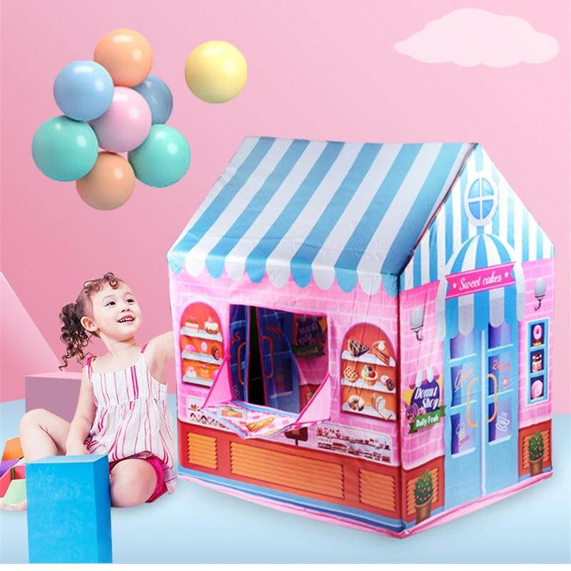 Jeu maison jouer tente fille princesse intérieur extérieur jouets Portable pliable Secret jardin jouer balle Pit piscine jouet pour enfants enfants